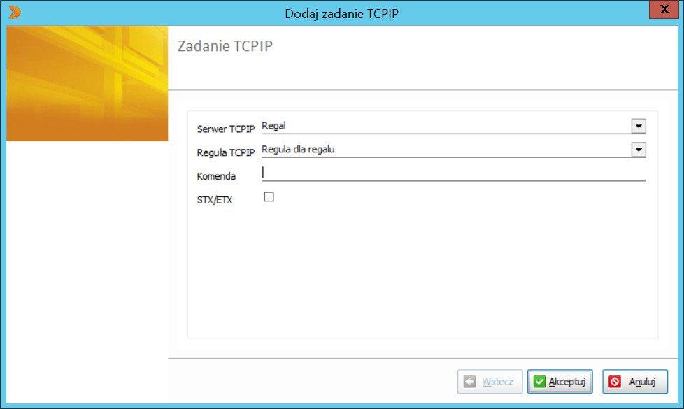 okno dodaj zadanie TCPIP